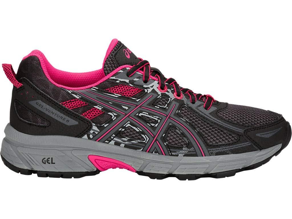 ASICS Women's Gel-Venture 6 Running Shoes, 5M, Black/Pixel Pink