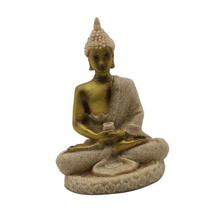 MagiDeal 3Pieces Home Decorative Buddha Figurine Outdoor