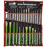 Grip 28 pc Heavy Duty Punch & Chisel Set