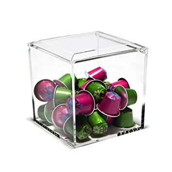 Nespresso Cube Plexiglass Capsule Pod Holder, Clear Dispenser, Storage  Solution For Nespresso Machines
