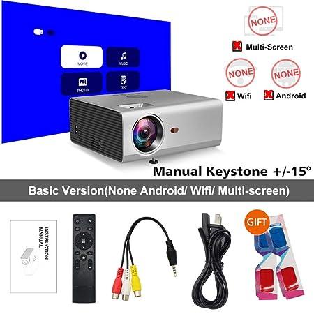 WWK - Proyector Smart HD, proyector LED para casa, corrección ...