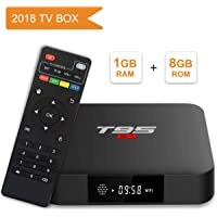 Android TV Box, T95 S1 Smart Box with 1GB RAM 8GB ROM Android 7.1 amlogic s905 W Quad Core cortex-a53 hasta Processor HDMI 2.0 h.265 2.4GHz WiFi 100 m Ethernet
