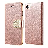 Excelsior Premium Leather Wallet Flip Cover Case For Apple iPhone 8 Plus (Rose Gold)