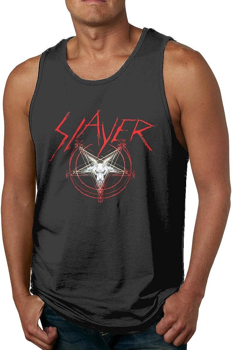 Trikahan Fashion Mens Slayer Band Vest Design Cotton Sleeveless Shirt Tank Top