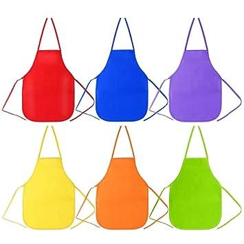 Farben Für Kinder.Sysoon 6 Stück 6 Farben Kinder Künstler Schürze 33 X 48 Cm