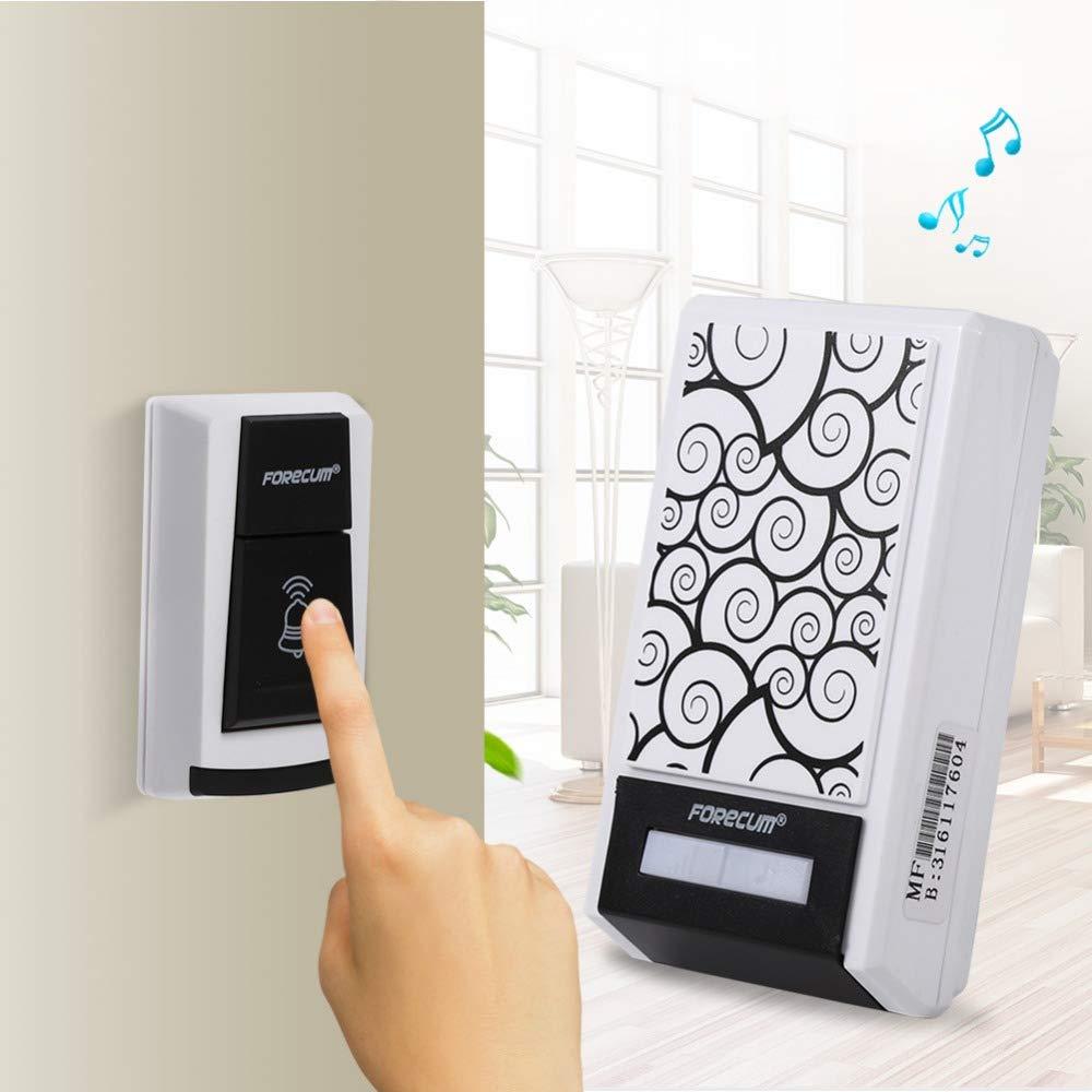 Hetai 1Wireless Doorbells Unique Pattern Design Door Bell W/ 1 Receiver/2 Receivers Waterproof Doorbell for Home Office 36 Tunes HOT