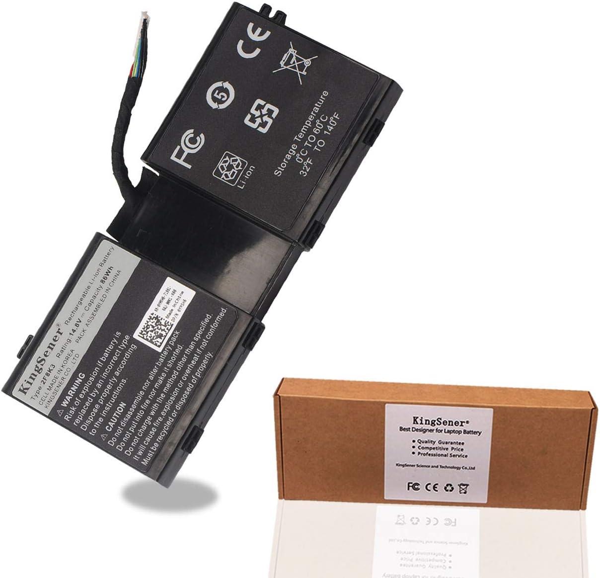 KingSener 2F8K3 Laptop Battery for DELL Alienware 17 18 M17X R5 M18X R1 2F8K3 0KJ2PX KJ2PX G33TT 14.8V 86WH