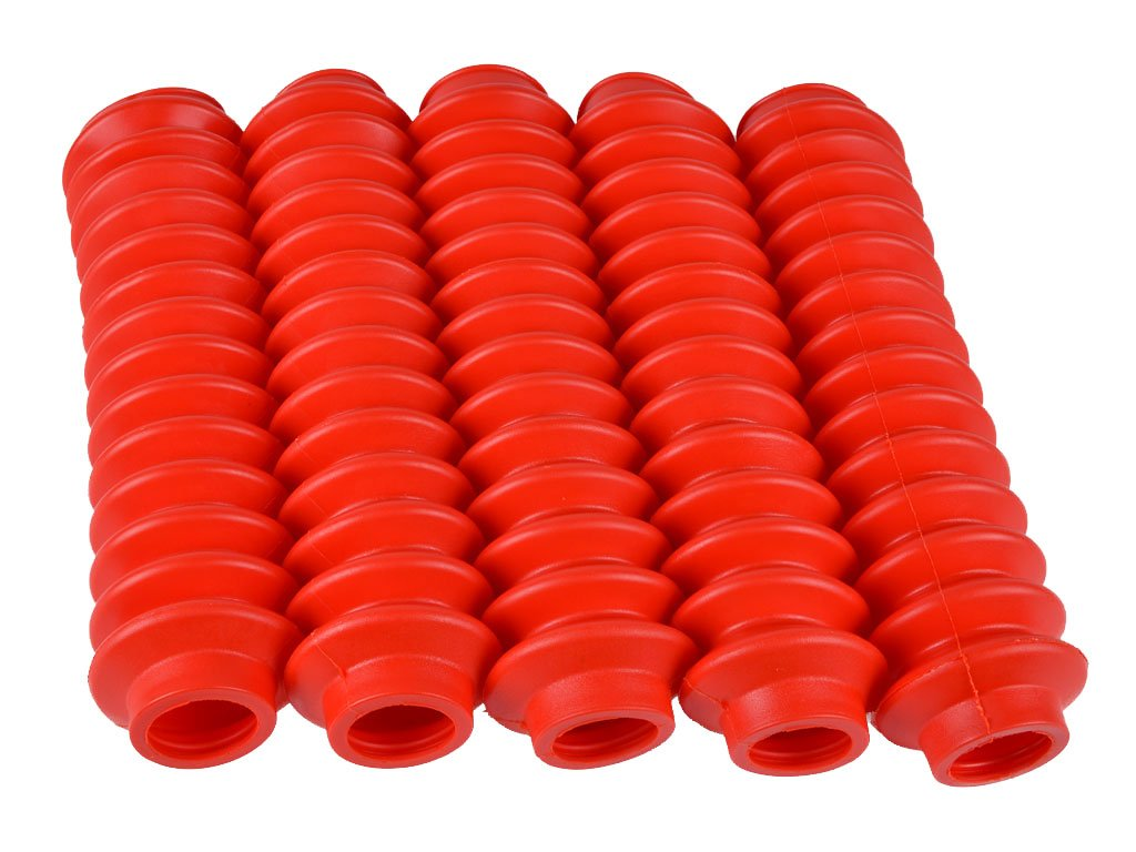 5 Shock Boots RED Fits Most Aftermarket Shocks fits Jeep Wrangler JK 2007-ON by Rukse