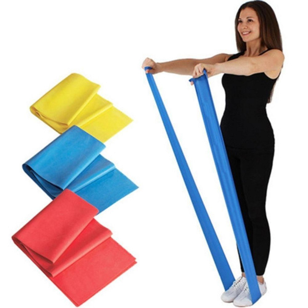 FitKit Resistance Exercise Band - 1 5M / 2M - Pilates Strength Conditioning  Yoga Insanity P90X – 1 BAND