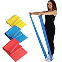 Resistance Exercise Band - 1.5M or 2M - Pilates - Strength Training & Conditioning - Stretch Bands - Yoga - Beachbody - Insanity - P90X - Ultimate Keep Fit Equipment, Exercise Booklet Included - ONE BAND