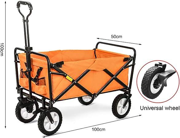 XYYZX Carrito Plegable Carretillas de Jardín Playa de Carro Carrito Plegable Carro Plegable Carretilla para Exterior de Transporte Carrito para excursiones,Naranja: Amazon.es: Hogar