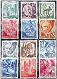 COLLECTION OF 12 SCARCE COLORFUL 1940%27