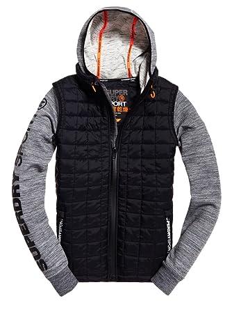 Superdry Men's Gym Tech Hybrid Jacket Black : Amazon.co