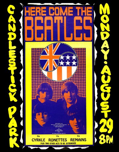 The Beatles Candlestick Park Poster Replica 14 X 11