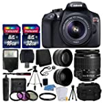 Canon EOS Rebel T6 Digital SLR Camera with 18 55mm EF S f 3 5 5 6 IS II Lens + 58mm Wide Angle Lens + 2x Telephoto Lens + Flash + 48GB SD Memory Card + UV Filter Kit + Tripod + Full Accessory Bundle