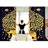 Elephant Tapestry Boho Curtains Window Curtain Window Treatment Panels Set Large Full Window Cover Decorative Elegant Curtains