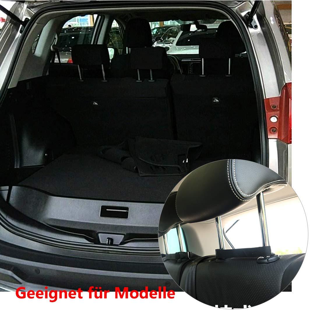 HOGAR AMO Auto Kofferraum Organizer Oxford-Gewebe Auto Netz R/ü cksitz Organizer mit Klett zu Befestigen Aufbewahrungstasche Gep/ä cknetz 89.5 x 46cm JL201-01@#A