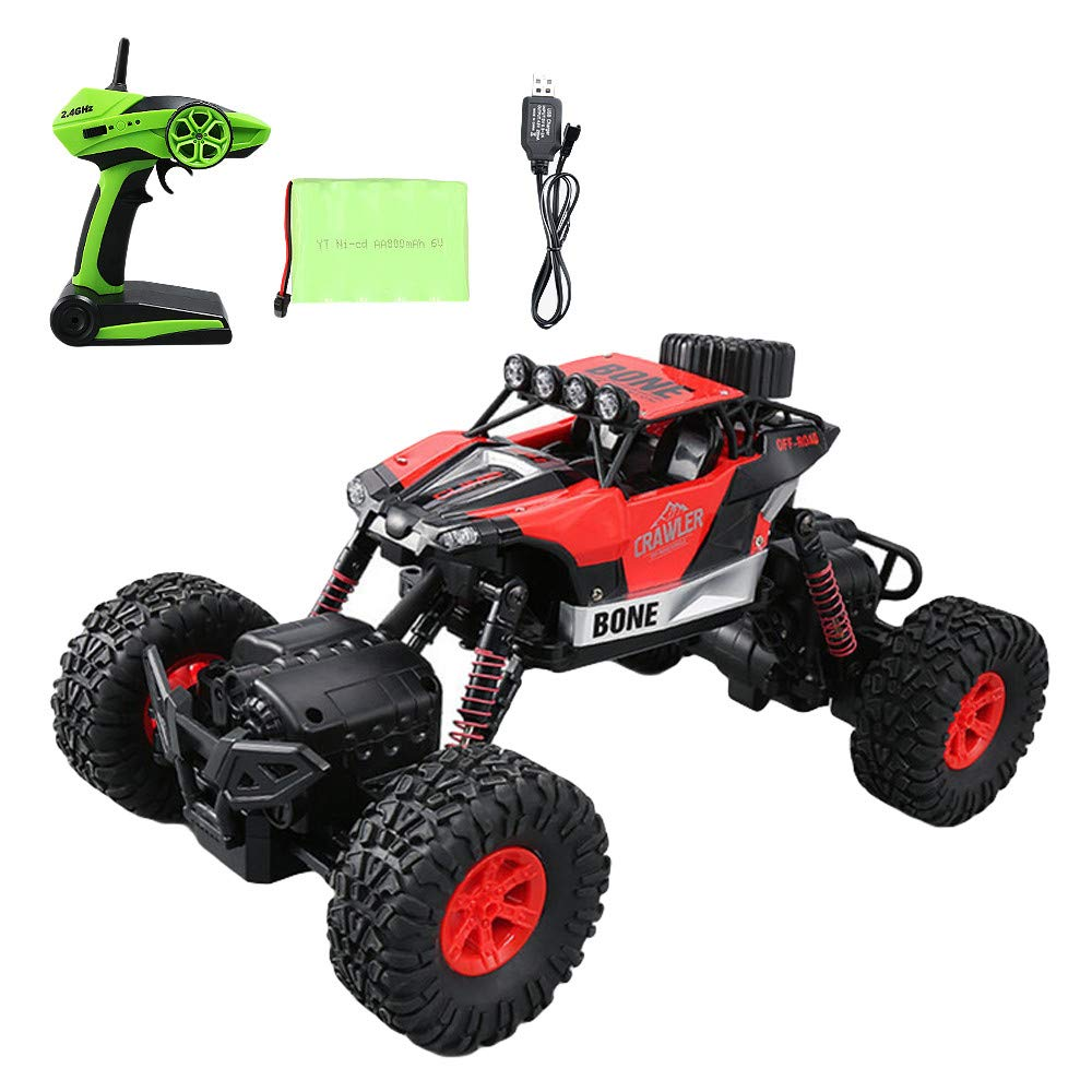 Choosebuy❤️ Christmas Radio Off-Road RC Car Racing, 1:16 Scale 4D 2.4GHz Waterproof Remote Control Vehicle Toys Kids Adults Birthday Christmas Gift (Red)