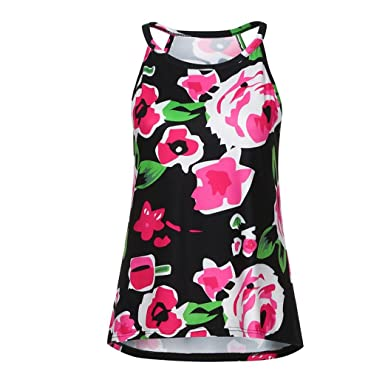 c18942d2bed1 Vovotrade Vest for Women, Ladies Bohemia Flower Print Tank Tops Sling Beach  Tops Casual Sleeveless T-Shirt at Amazon Women's Clothing store: