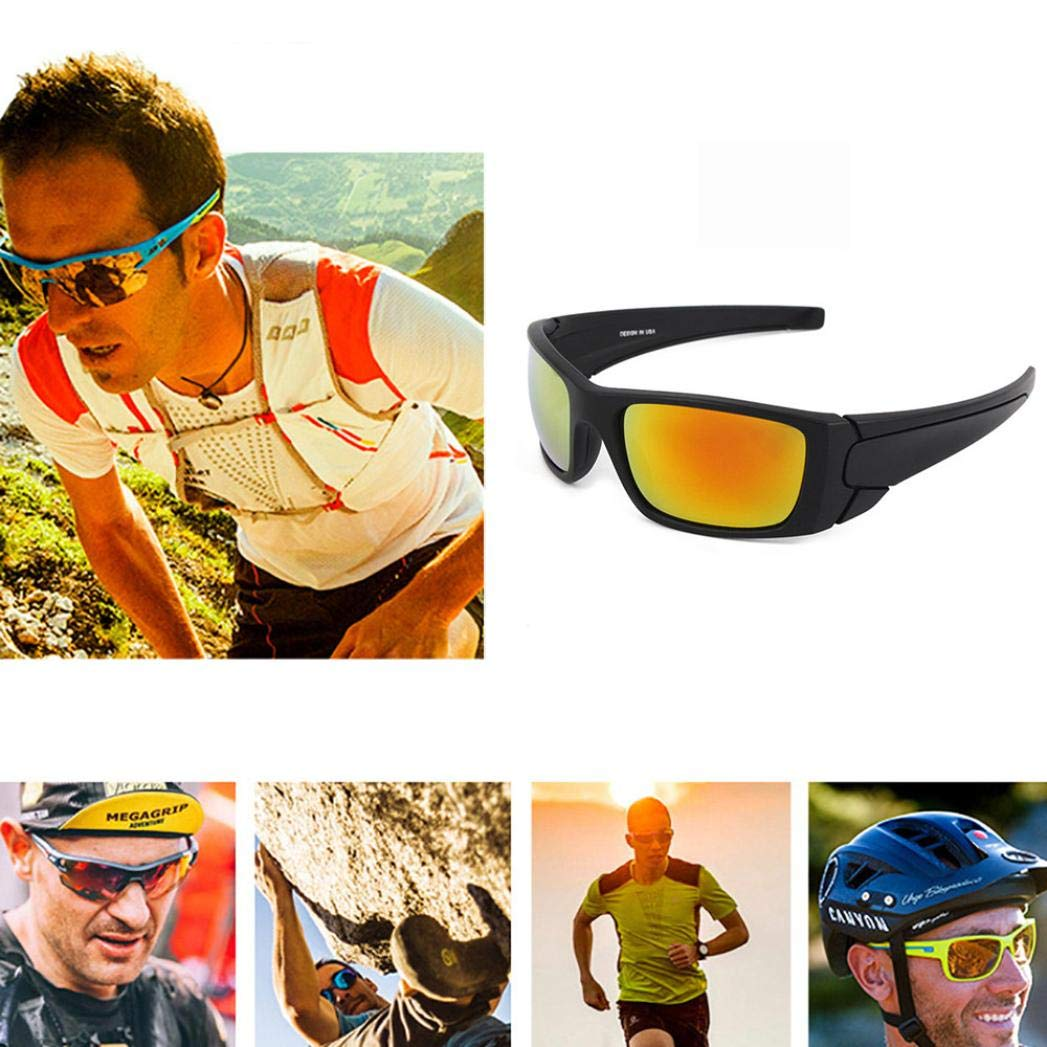 EraseSIZE 100/% UV protection Safety Goggles, 6 Colors Polarized Sports  Sunglasses With Unbreakable