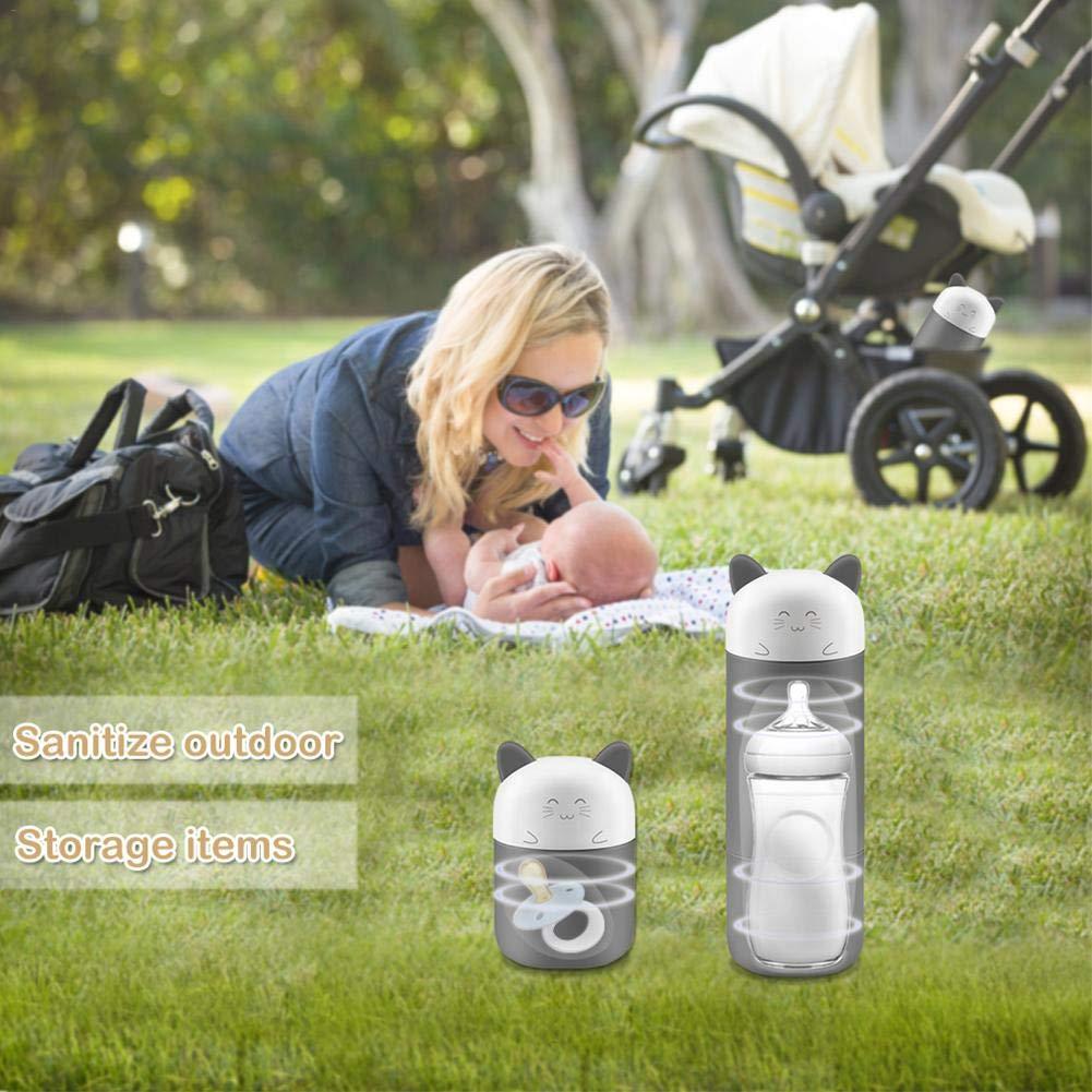 Spoon and Fork Pacifier Toothbrush Sanmubo Portable Baby Bottle Sterilizer,Electric Steriliser UV Sterilizer Ozone Steriliser Portable Steriliser for Bottle