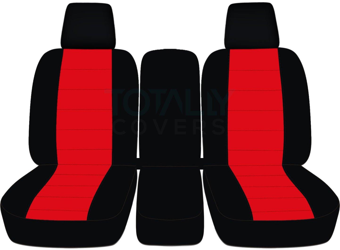 2004 – 2008フォードF - 150ツートンカラートラックシートカバー(フロント40 / 20 / 40分割ベンチ) センターコンソール/アームレスト、W / WO、シートベルト – フロント( 21色) 2005 2006 2007 Fシリーズf150 (右ハンドル車との互換性は保証いたしかねます) Solid Armrest & Integrated Seat Belts レッド TCCSCTT26-82-0408FF150424-SAISB B06XDVN6X3 Solid Armrest & Integrated Seat Belts|ブラック&レッド ブラック&レッド Solid Armrest & Integrated Seat Belts