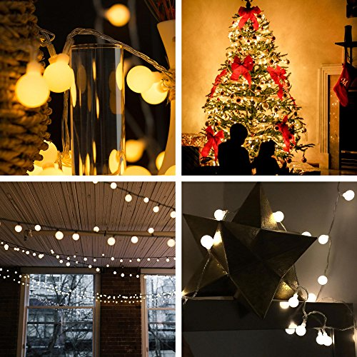 [Remote & Timer] 33Ft Globe String Lights 100LED Fairy Twinkle Lights with Remote 8 Modes Controller & UL Listed Adaptor Plug-for Patio/Party/Garden/Wedding Decor, Warm White by Brightown (Image #4)