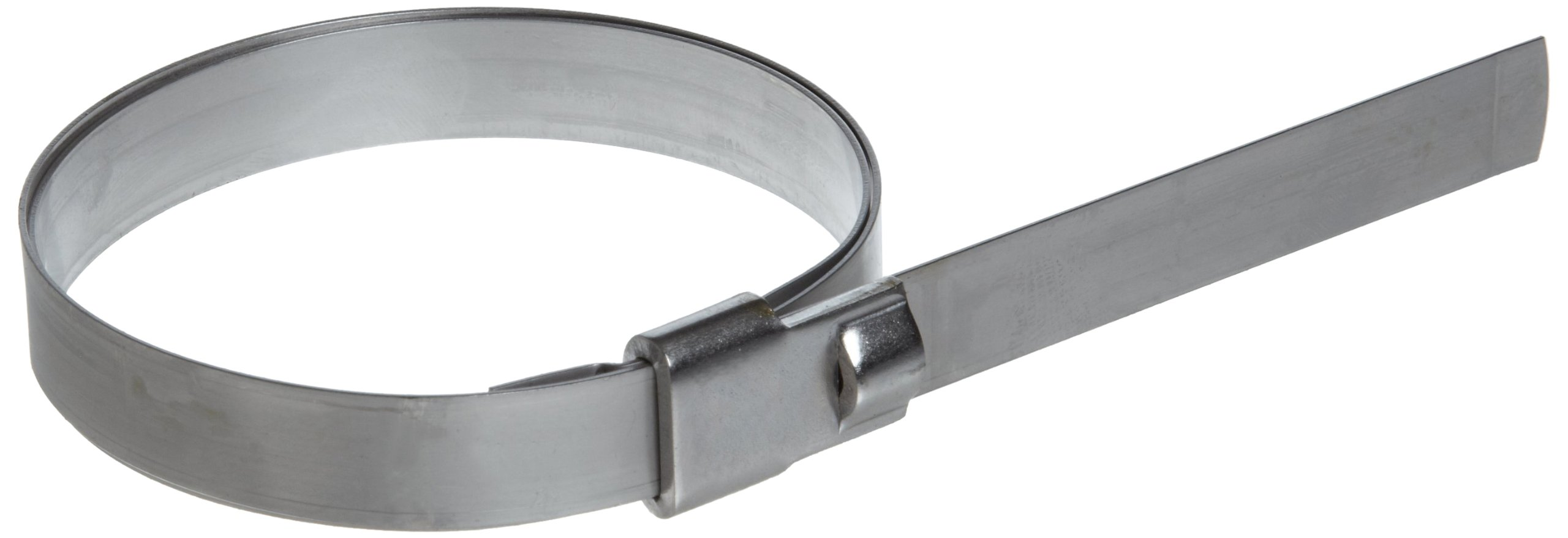 BAND-IT UL2119 Ultra-Lok 3/4'' Wide x 0.030'' Thick, 3'' Diameter, 201 1/4 Hard Stainless Steel Preformed Clamp (50 Per Box)