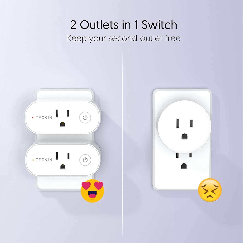Switch Socket avec minuteur Compatible avec Alexa Google Assistant IFTTT No Hub Required Smart Plug//Outlet Smart Plug 1 paquet application Remote
