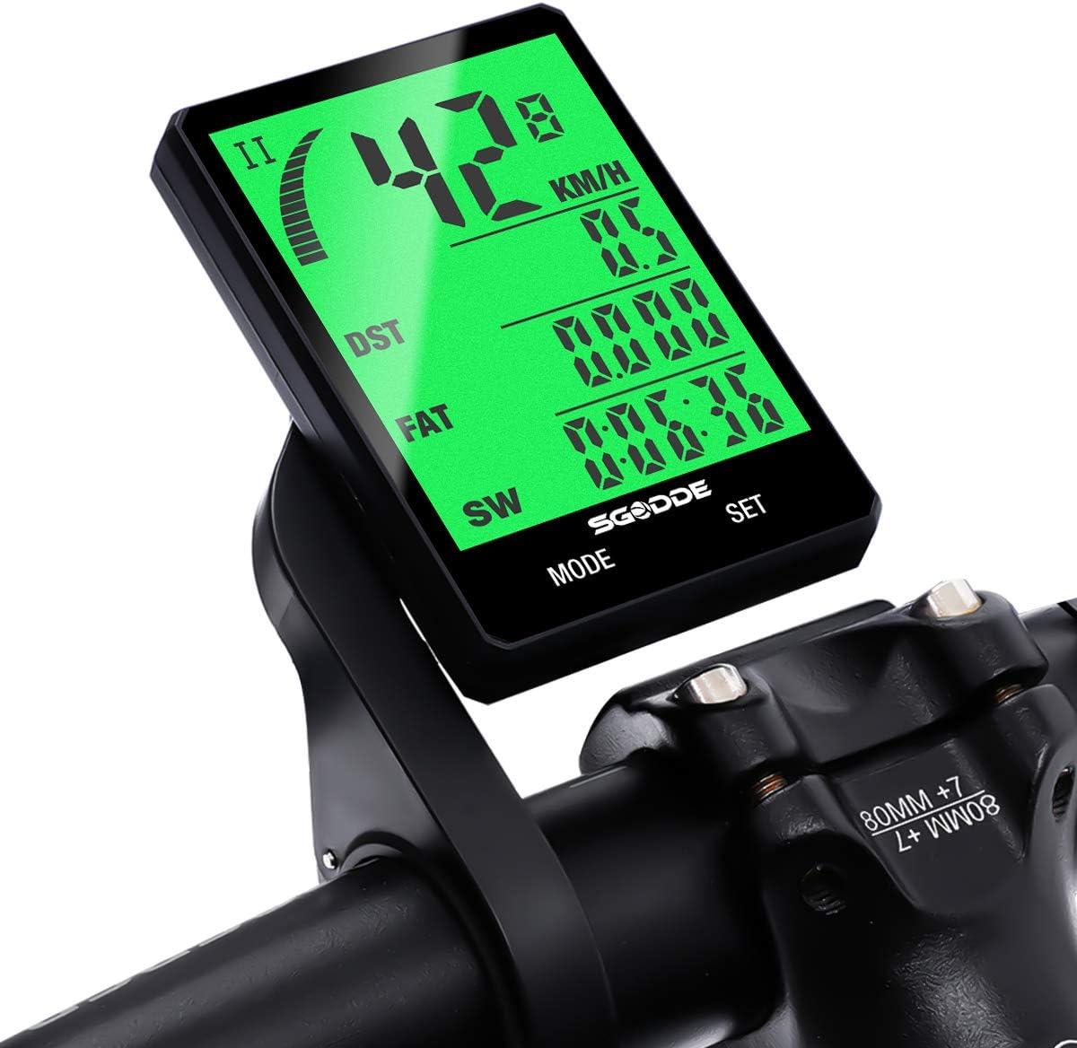 Bicicleta Cuentakilómetros Cableado, SGODDE Impermeable LCD ...