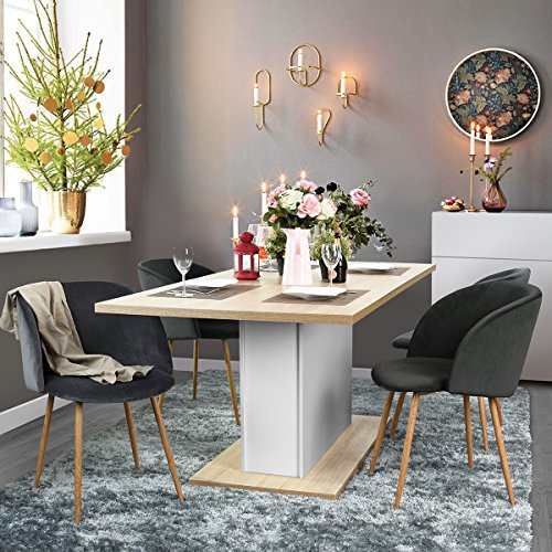 FurnitureR Extendable Rectangular Dining Table Mltifunction Space - Extendable beech dining table