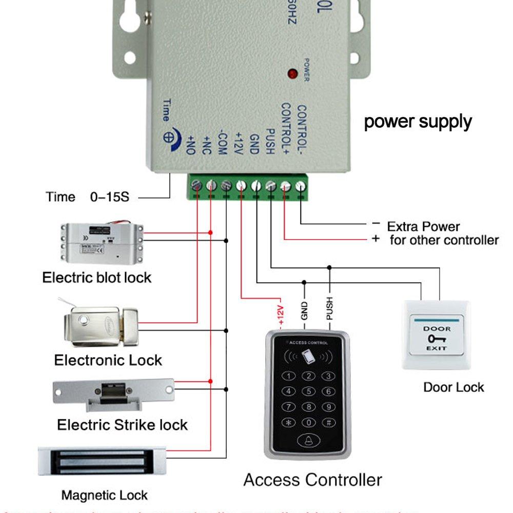 HFeng Teclado independiente del control de acceso del regulador del RFID con 10 llaveros de EM4100 4200 Lector de tarjeta 125KHz para el sistema casero del control de acceso de la puerta
