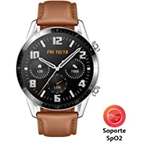 HUAWEI Watch GT 2 - Reloj Inteligente, 46mm,  3D Glass Screen, Bluetooth, Café