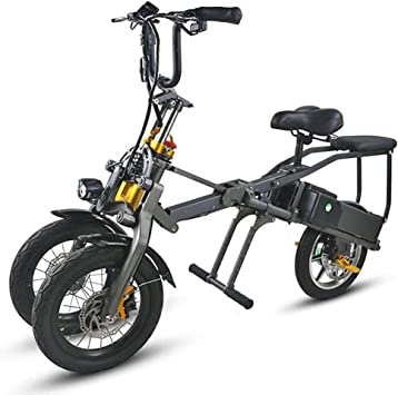 LHLCG Scooter for Adult Bicicleta eléctrica Plegable de Tres ...