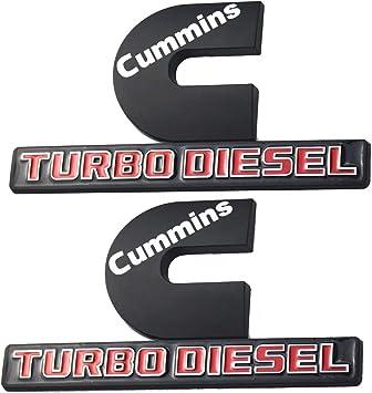 3D Decal Badges Replacement for Ram 2500 3500 Nameplate Emblem Mopar 2Pcs Cummins Turbo Diesel Emblems Black