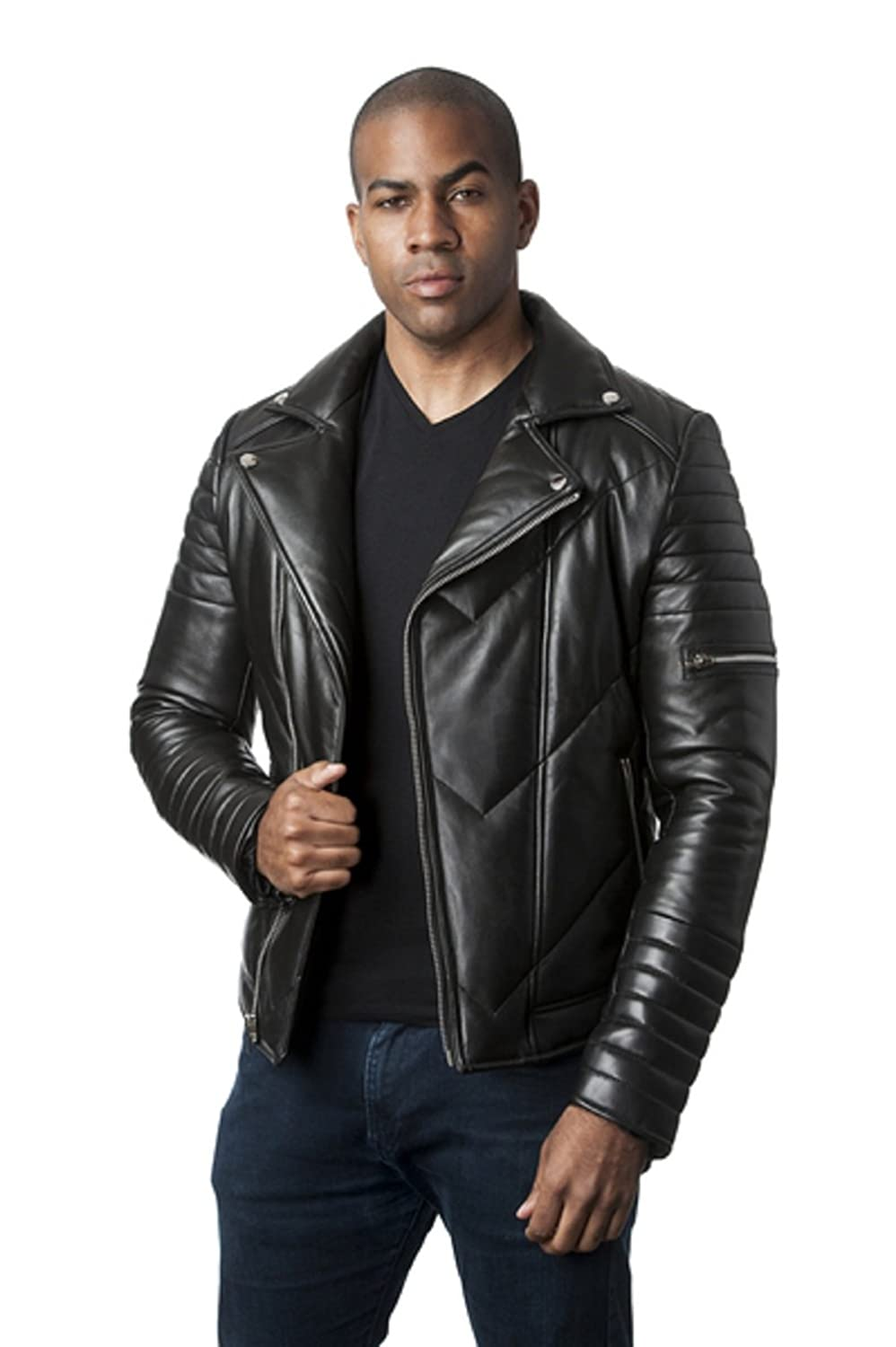 d7862fdd6 Mason & Cooper Ethan Puffer Leather Jacket at Amazon Men's Clothing ...