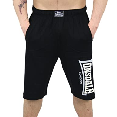 Lonsdale London Herren Jersey Logo Jam Shorts black - fällt normal aus:  Amazon.de: Bekleidung