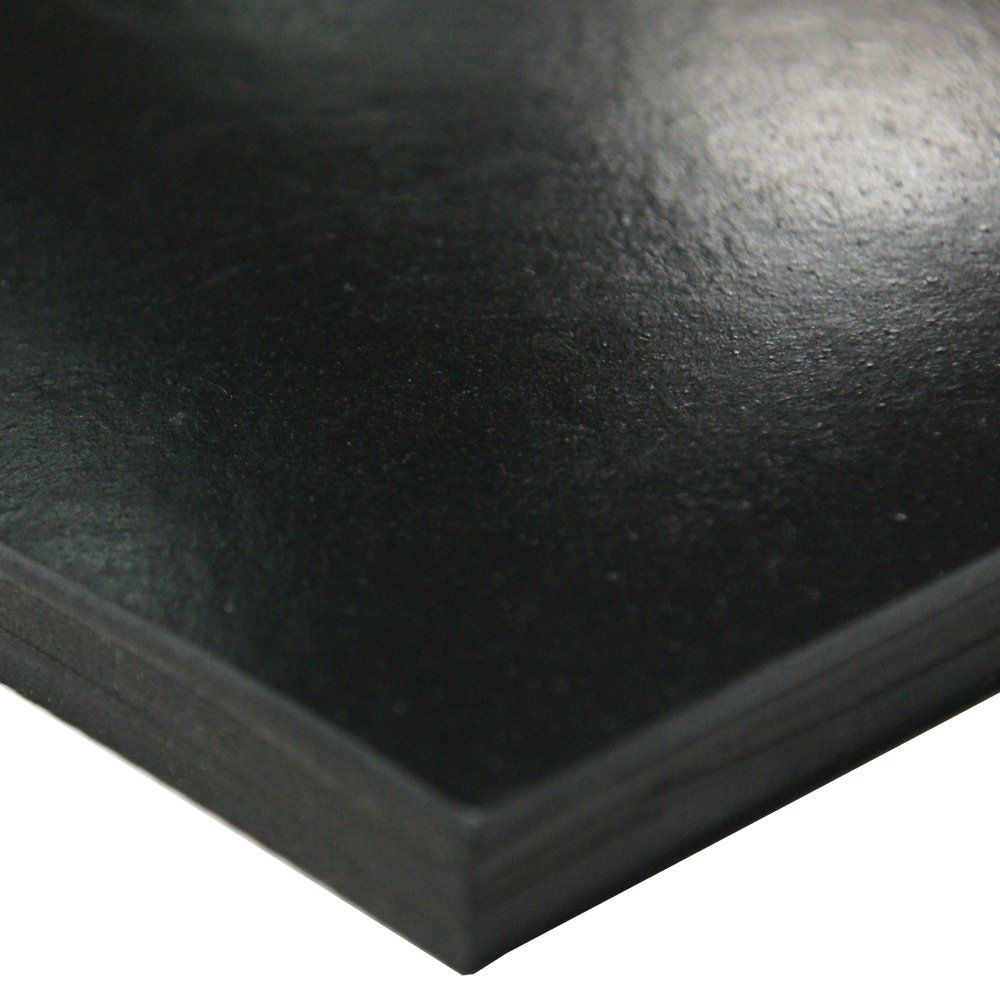 Styrene Butadiene Sheet Black 0.125 Thick 36 Width 60 Length 75A Durometer