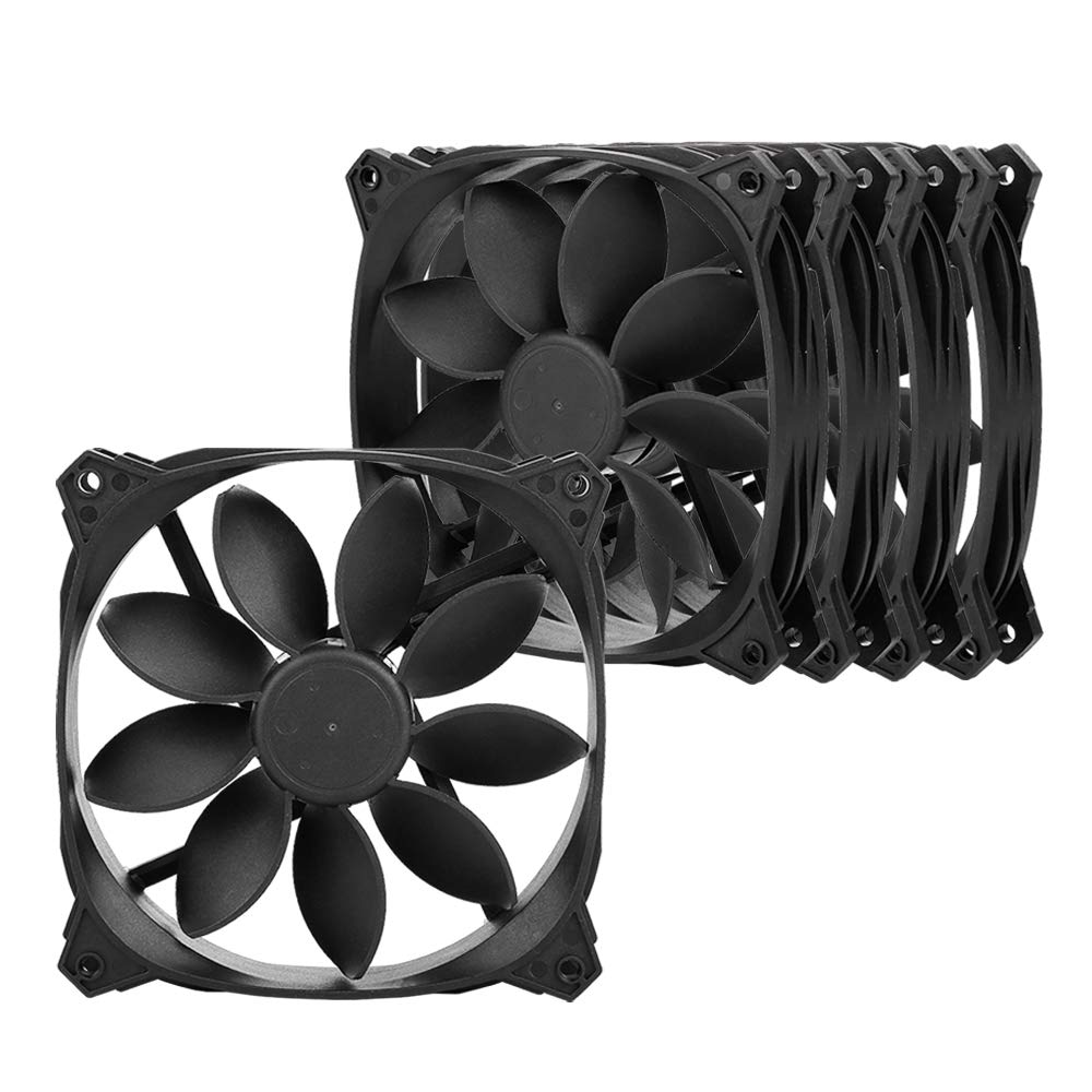 Antec 120mm Case Fan High Airflow 53 CFM @ 1000 RPM, 120mm 5 Packs 3-pin (Lotus Series)