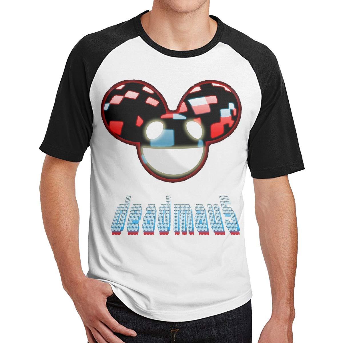 Deadmau5 Logo Music Band Singer Short Sleeve Soft Baseball T-Shirts