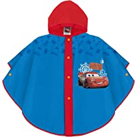 PERLETTI Poncho Impermeable Disney Cars Niño - Chubasquero de Lluvia Rayo Mcqueen con Detalles Rojos - Chaqueta…
