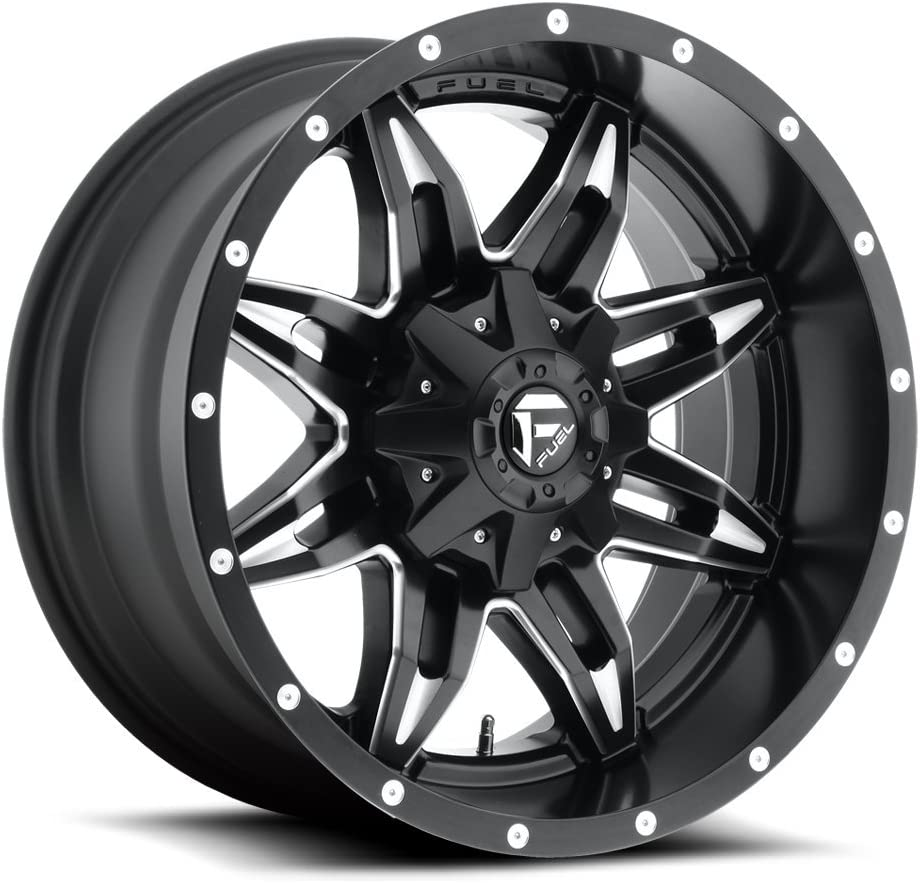 FUEL Lethal NB BLK MIL Wheel with Painted 15 x 8. inches //5 x 139 mm, -18 mm Offset