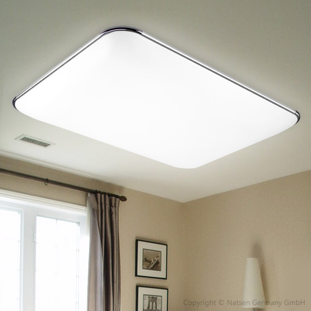 Incroyable Natsen® 36W LED Deckenbeleuchte Modern Silber Deckenlampe Warmweiß Lampe  (650mm*430mm ) I503Y: Amazon.de: Beleuchtung