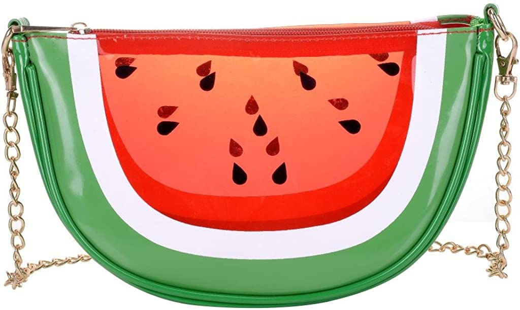QZUnique Women's Cute Fruit Shape PU Handbag Shoulder Bag Crossbody Bag Clutch Purse