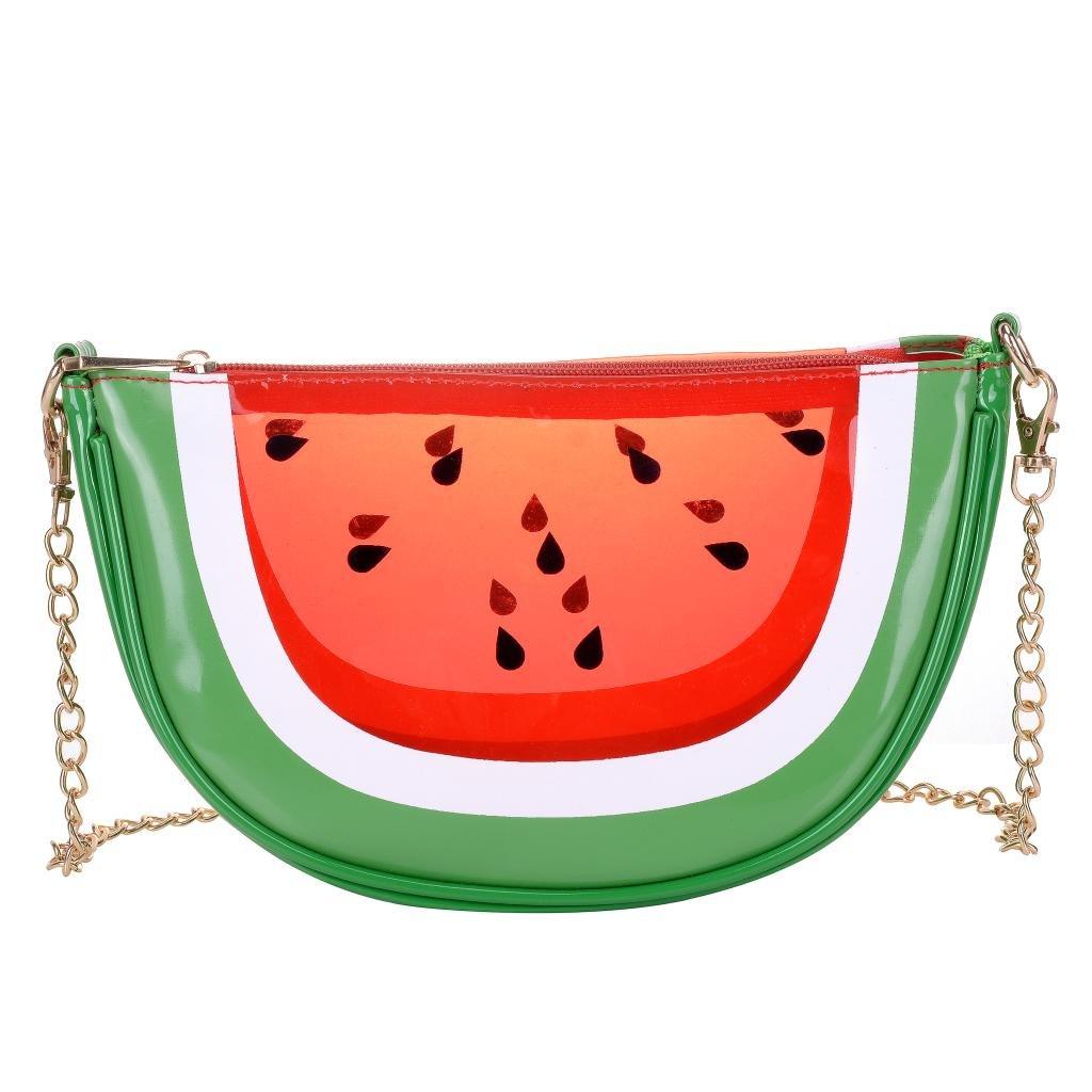 Women's PU & Transparent Medium Cute Fruit Style Handbag Purse Shoulder Bag