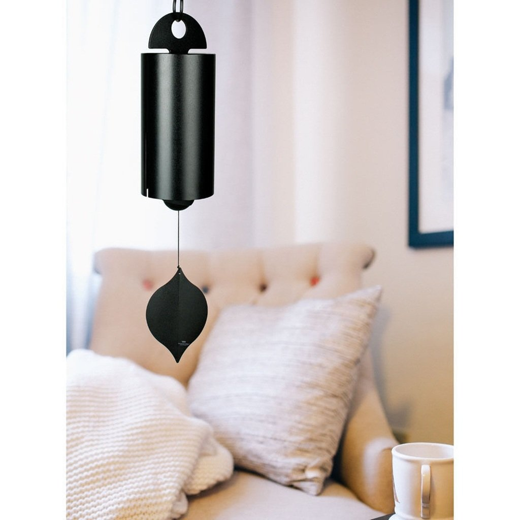 CHSGJY Heroic Windbell Large Sandblast Black Wind Bell Chime Home Yard Garden Indoor Outdoor Living Decor