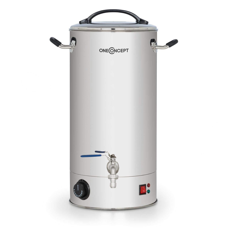 oneConcept Braufreund 30 Caldera de maceración con canilla • Dispensador de bebidas • Caldera para hacer cerveza • 30 litros • 2500 W • 30-110 °C ...