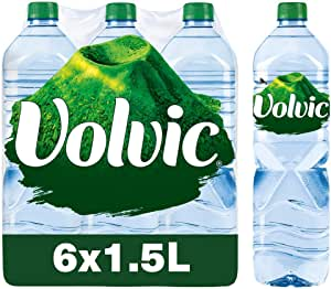 Volvic Natural Mineral Water, 1.5 L (Pack of 6)