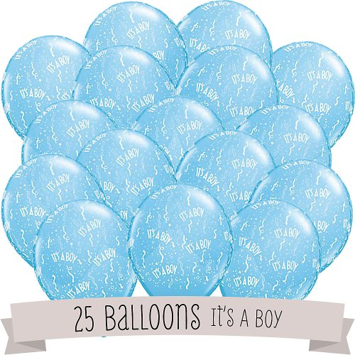 It's A Boy! - Baby Shower Balloons - 25 ct