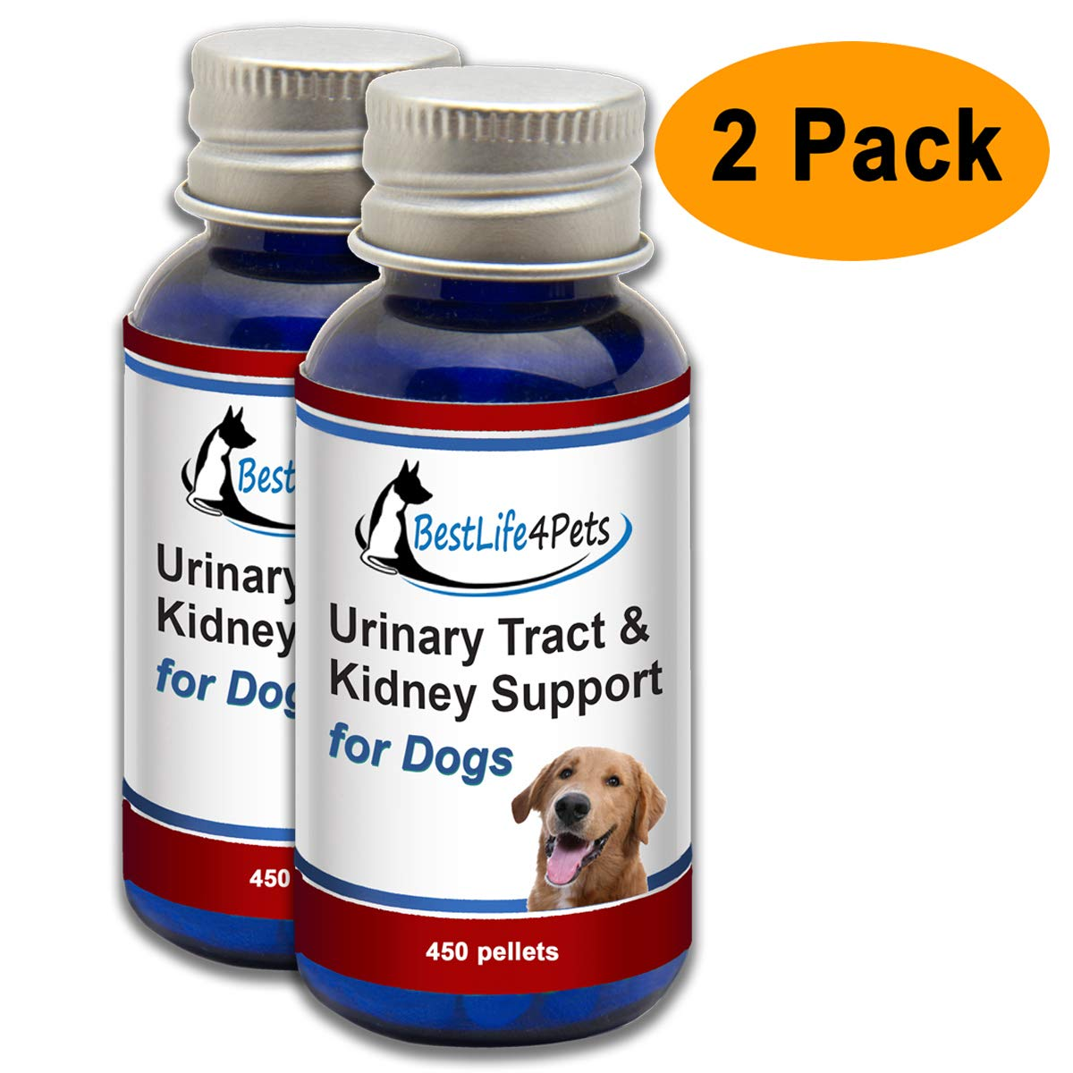 BestLife4Pets Dog UTI and Bladder Support - Natural Urinary Tract Infection Treatment Relieves Painful Urine Incontinence and Leaks, Reduces Bladder Infections, Prevents Pet Kidney Disease and Stones